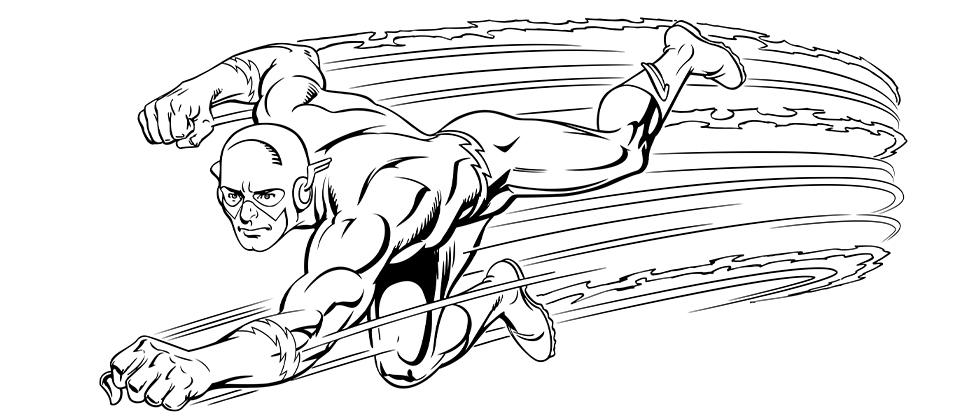 Coloriage Flashurban Comics